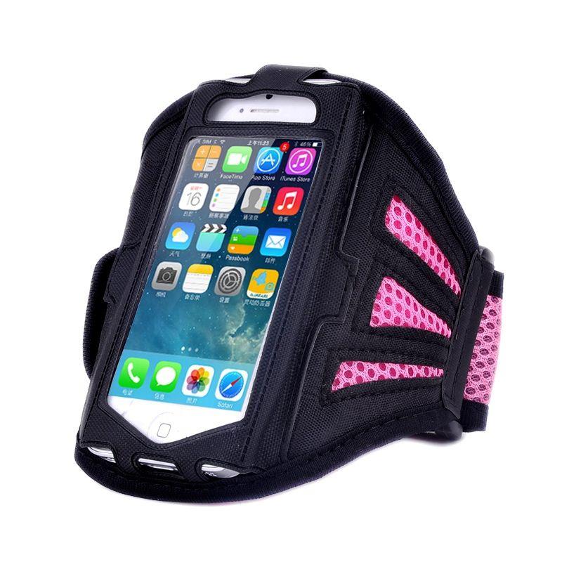 Držák mobilu na ruku sport - růžová