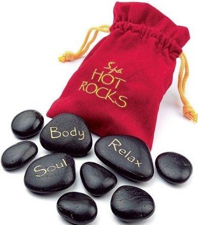 Horké lávové masážní kameny